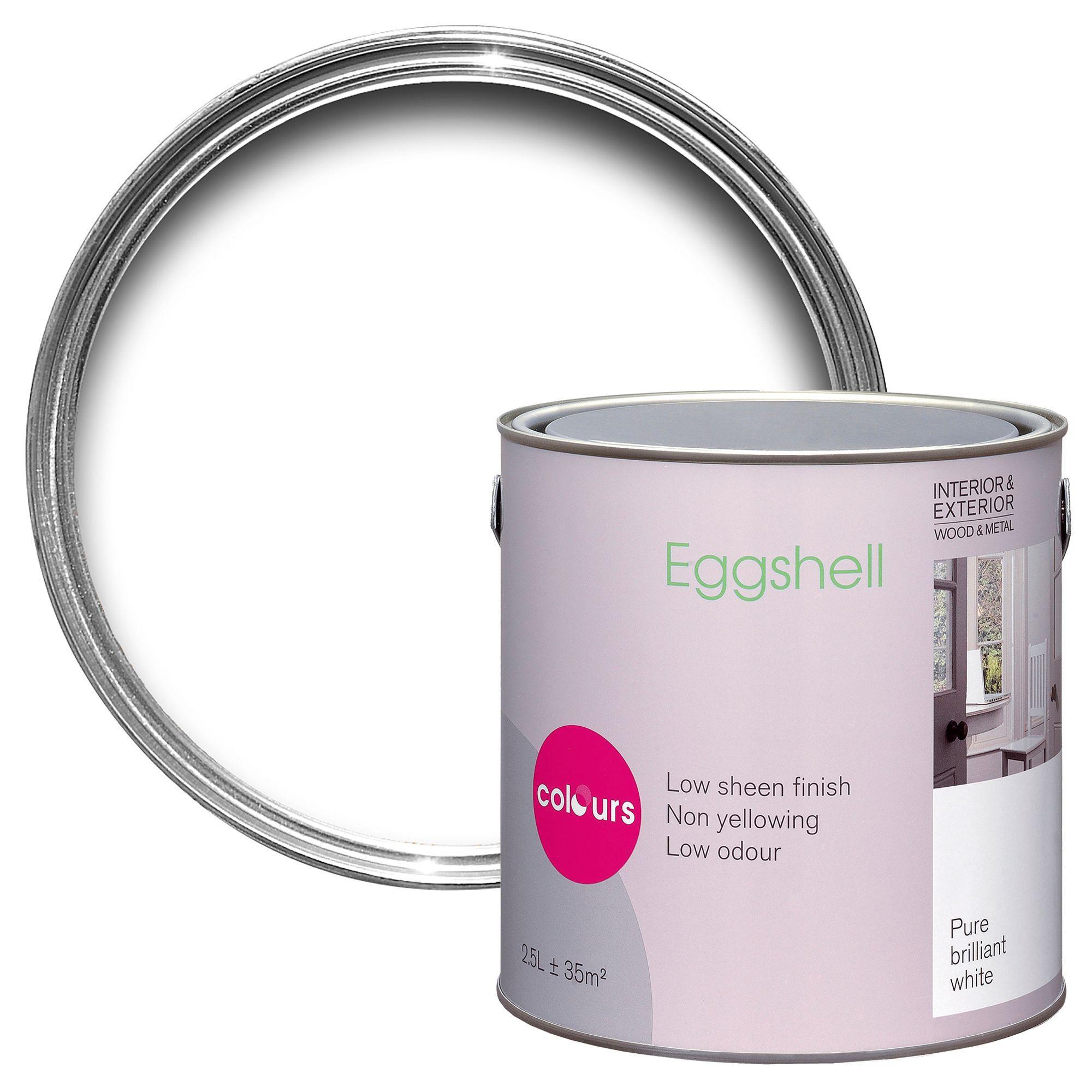 White Eggshell Paint DIY