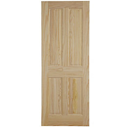 4 Panel Clear Pine Internal Fire Door, (H)1981mm