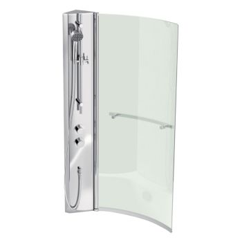 Cooke & Lewis Shower Col & Adelphi Curved Bath Screen