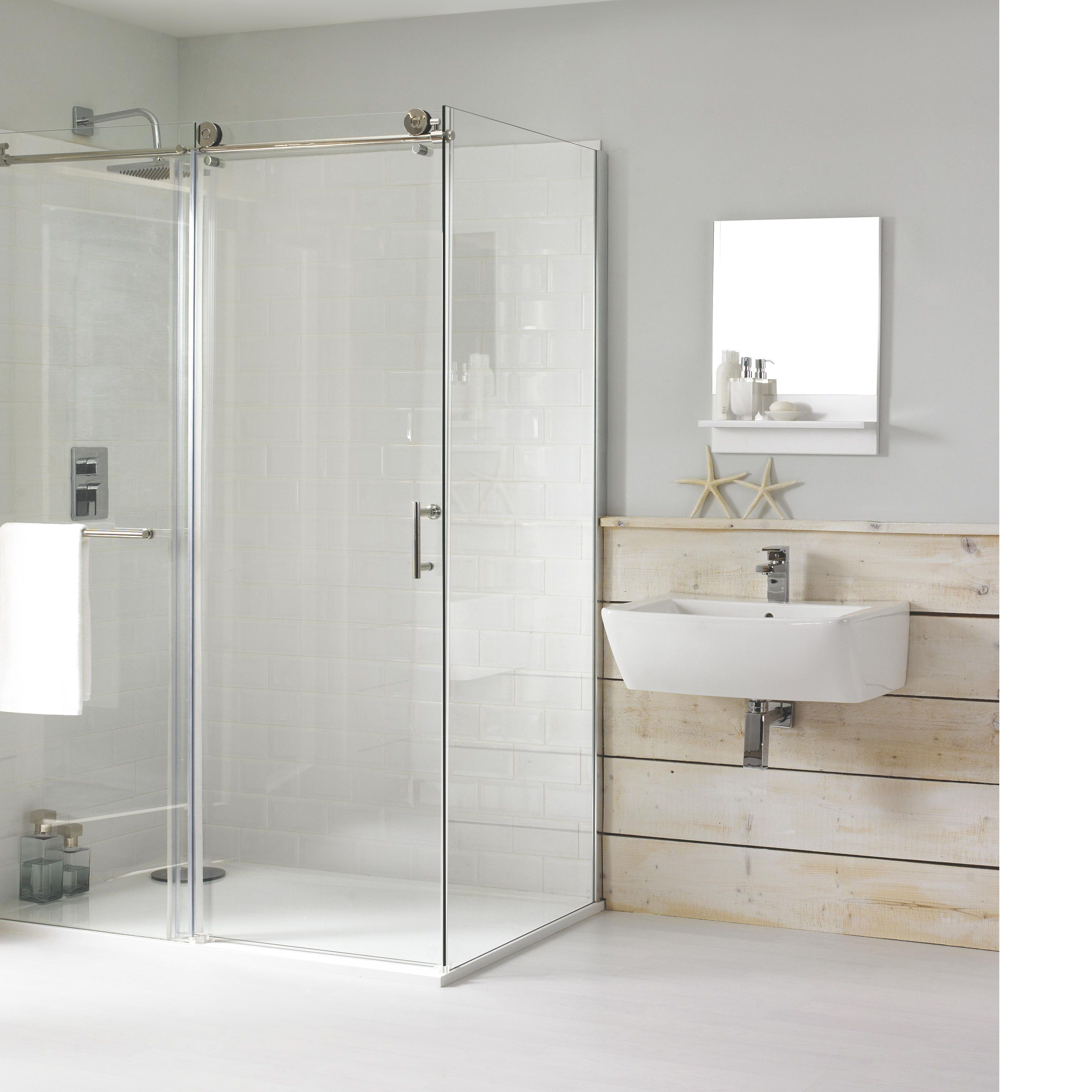 Generous rectangular shower enclosures contemporary for Rectangular bathroom designs