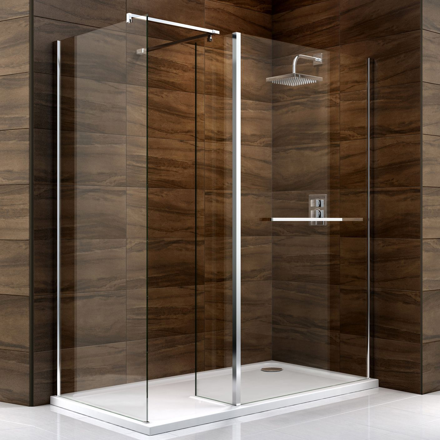 Cooke lewis cascata rectangular rh shower enclosure with B q bathroom design service