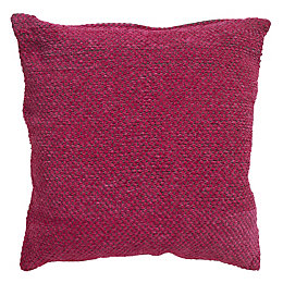 Carpel Plain Fuchsia Cushion