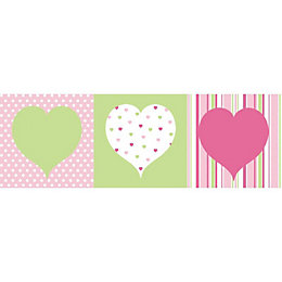 Hearts Green, Pink & White Box Art Set