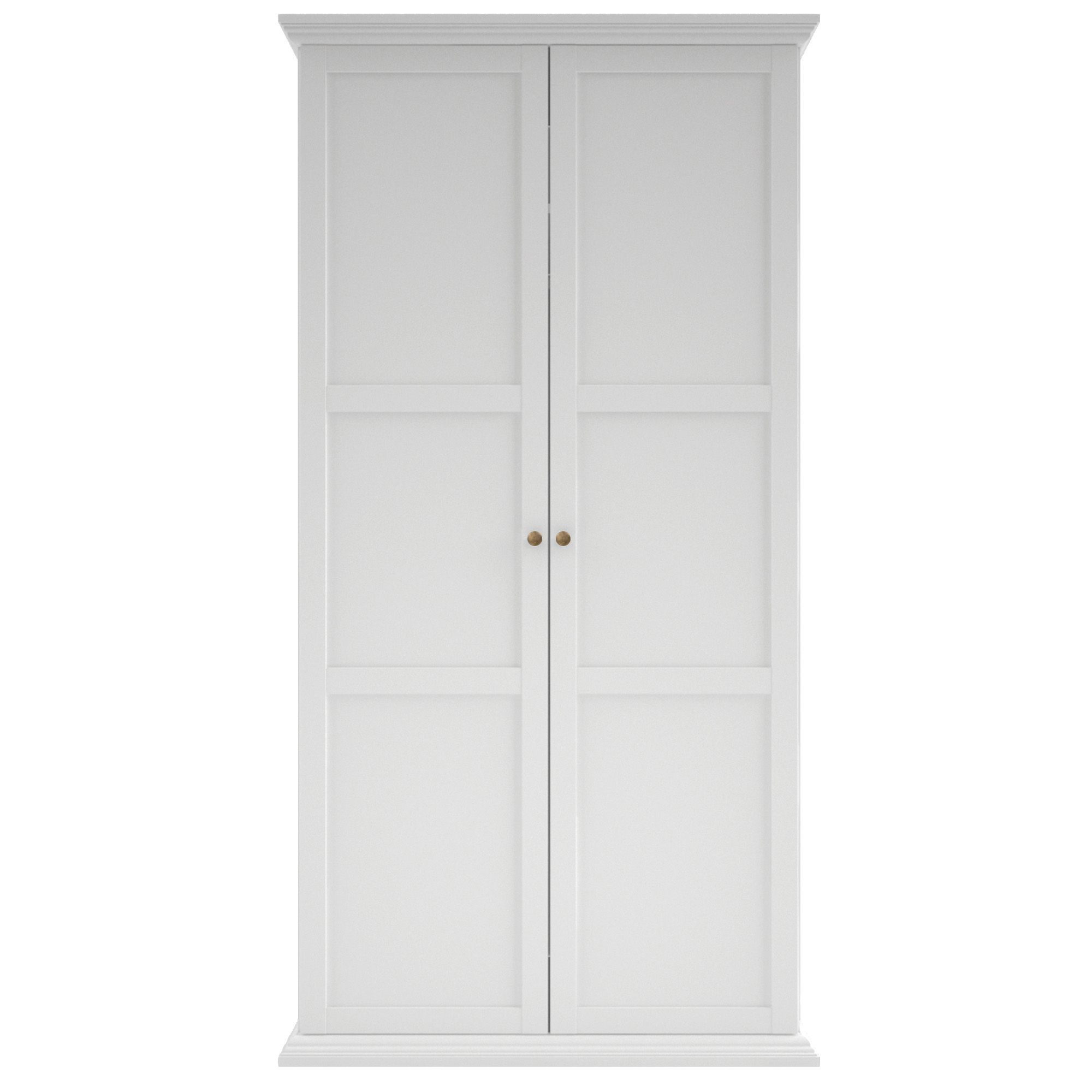 Isabella White 2 Door Wardrobe (H)2030mm (W)1043mm | Departments | DIY at  B&Q
