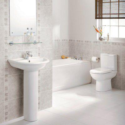 ideal standard della close coupled toilet full pedestal basin departments diy at b q. Black Bedroom Furniture Sets. Home Design Ideas