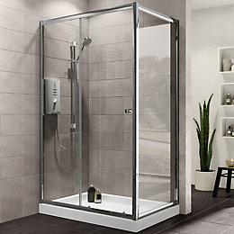 Plumbsure Rectangular Shower Enclosure, Tray & Waste Pack