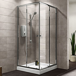 Plumbsure Square Shower Enclosure, Tray & Waste Pack