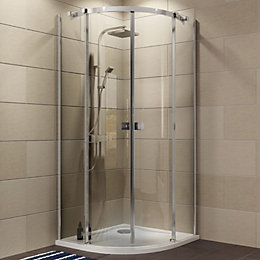 Cooke & Lewis Luxuriant Quadrant Shower Enclosure, Tray