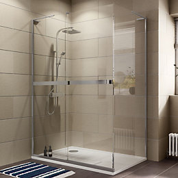 Cooke & Lewis Grandeur Rectangular LH Shower Enclosure,