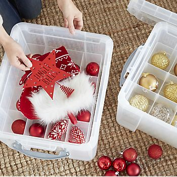 Christmas decorations box