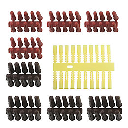 B&Q Plastic Plastic Wall Plugs, Pack of 200