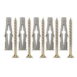 B&Q Metal & Plastic Wall Plug & Screw,