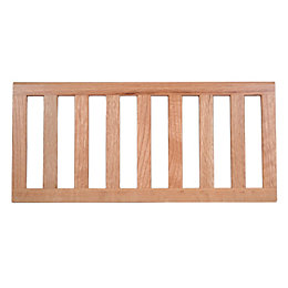 Natural Oak Effect Slatted Shelf (L)471mm (D)216mm