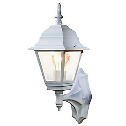 B&Q Penarven White Mains Powered External Wall Lantern