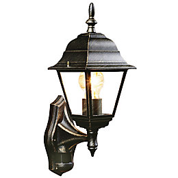 B&Q Penarven Antique Effect Black Mains Powered External