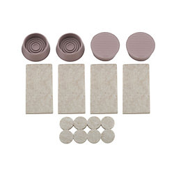 B&Q Grey Felt & Rubber Self Adhesive Hard