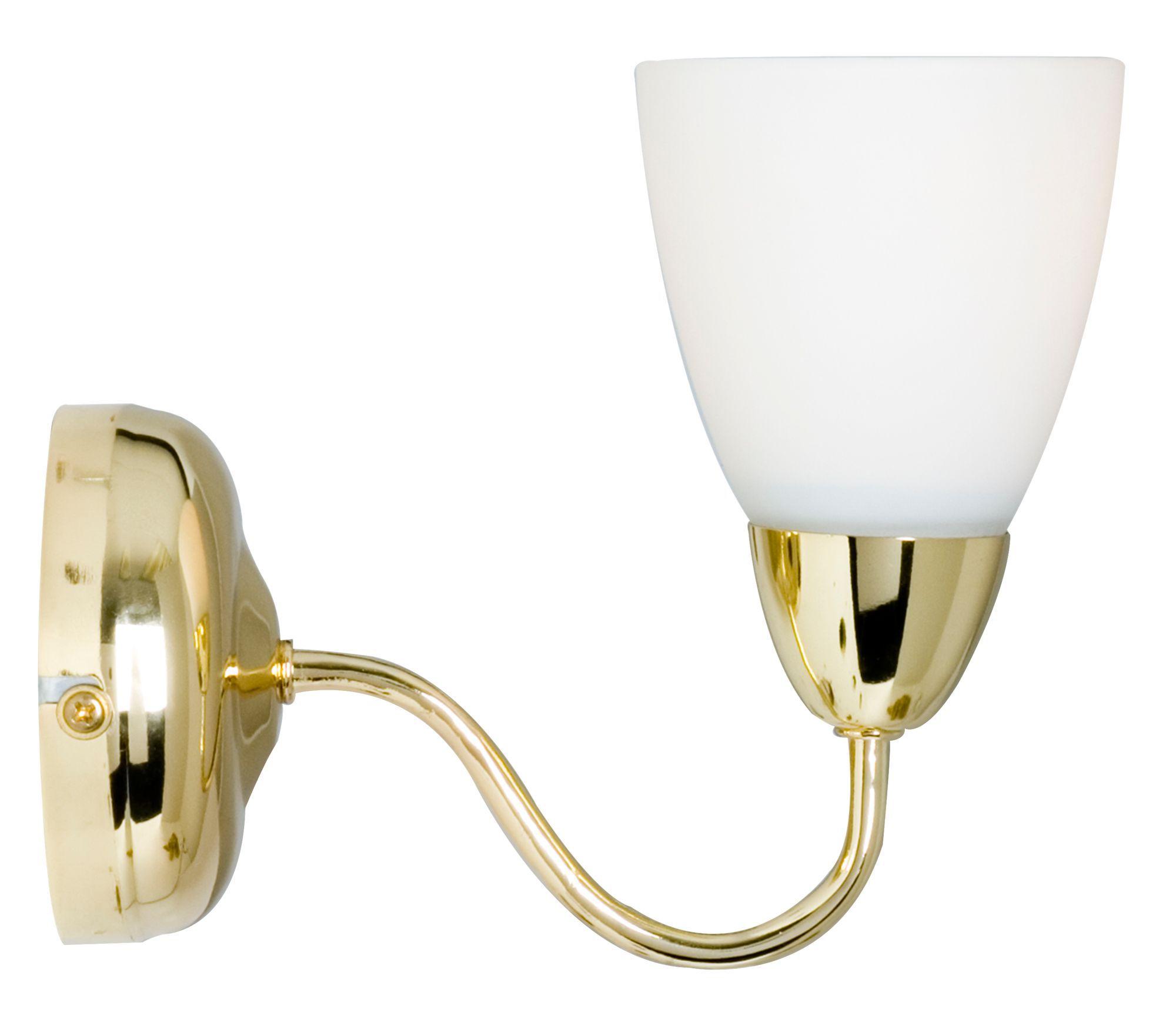 Virgo Brass Effect Single Wall Light Departments DIY at B&Q