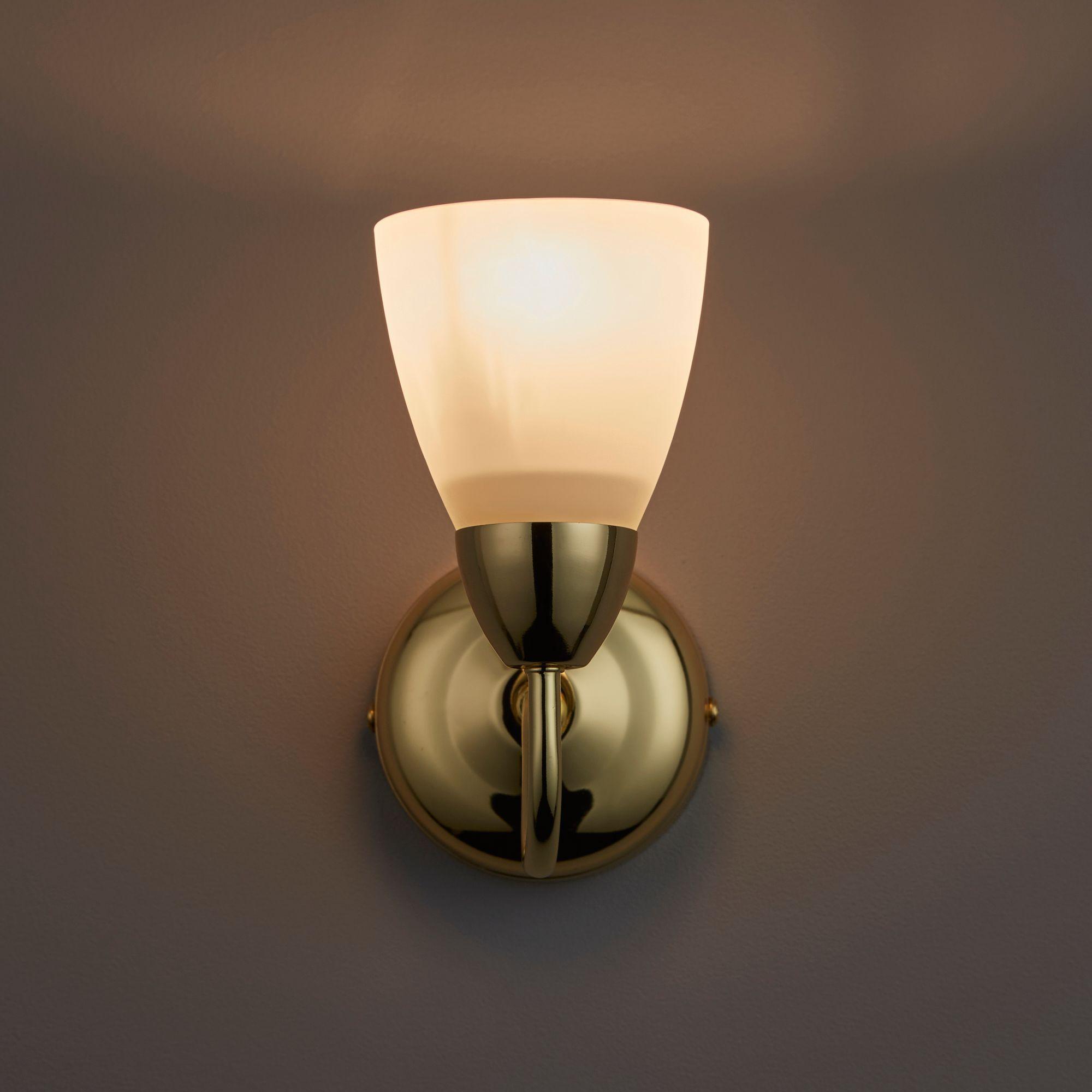 Virgo Brass Effect Single Wall Light