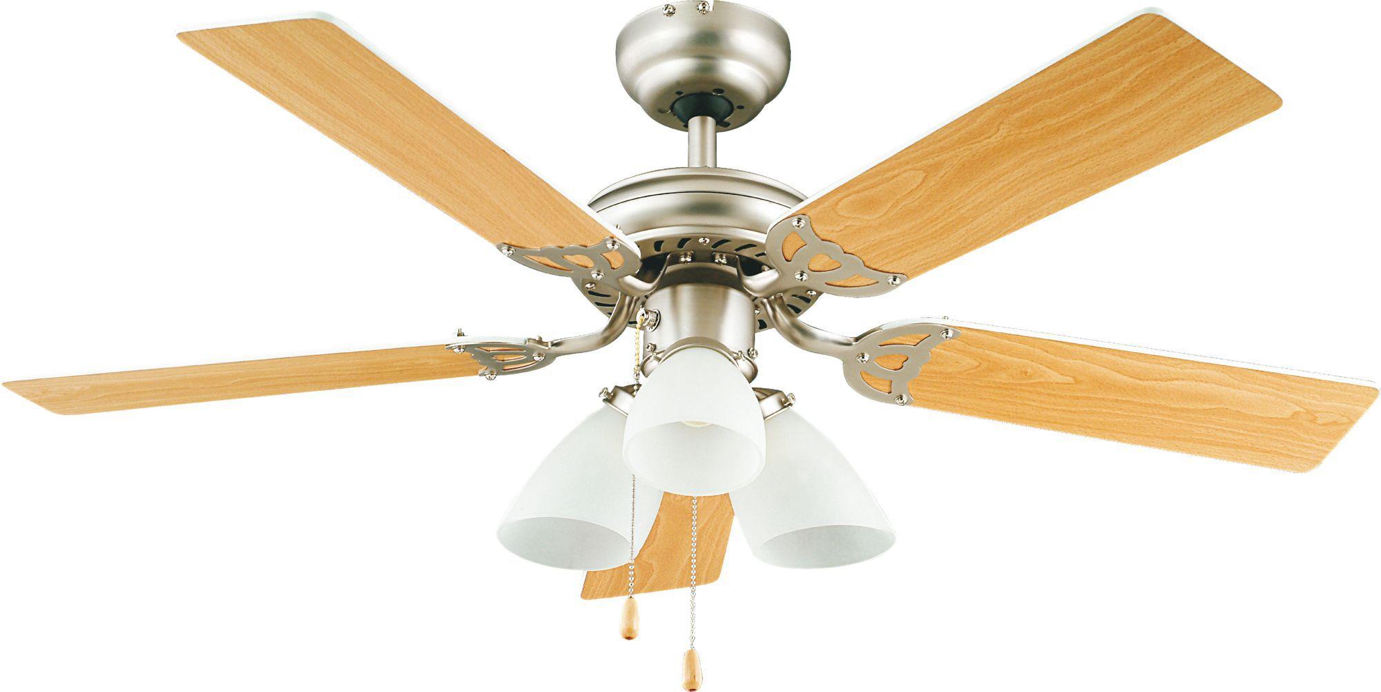 Pampero Stainless Steel Effect Ceiling Fan Light