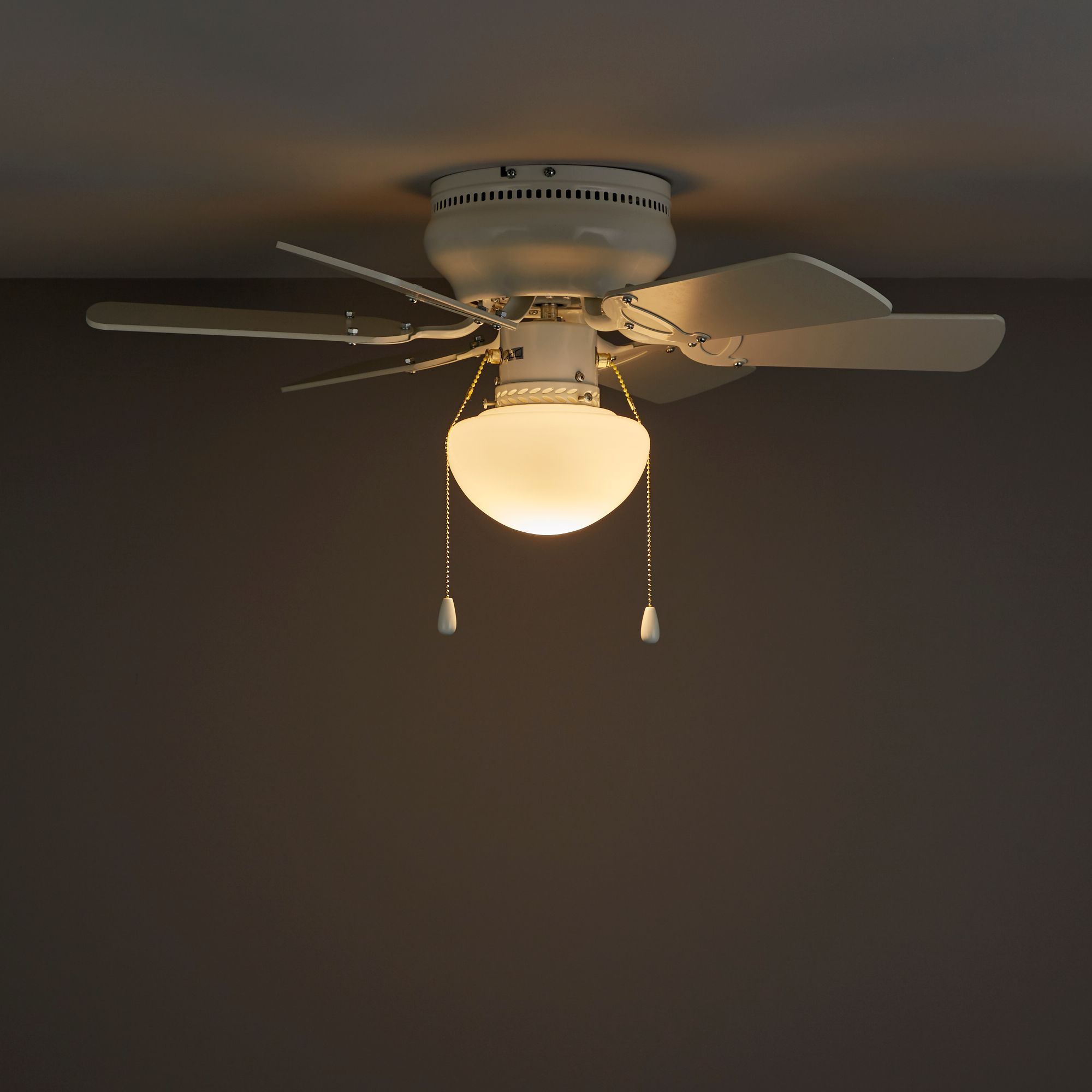Twister White Ceiling Fan Light Departments Diy At B Amp Q