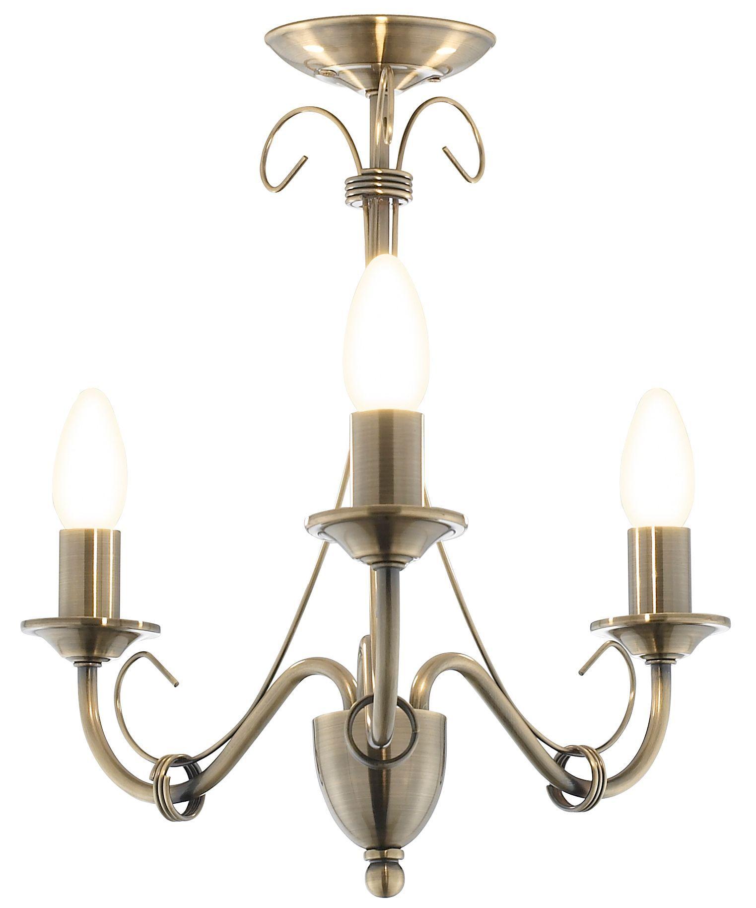 Priory Gold 3 Lamp Ceiling Light | Departments | DIY at B&Q