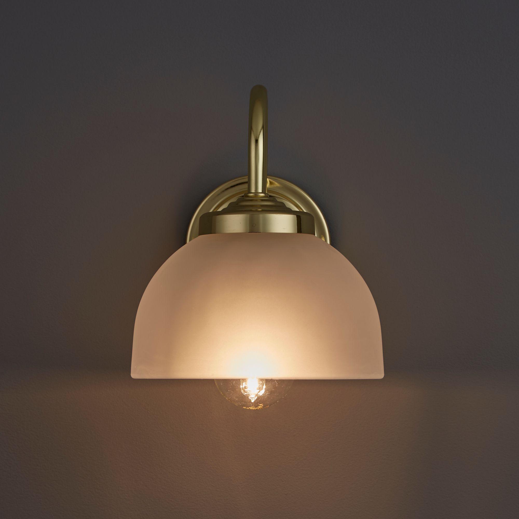 Grantchester Brass Effect Single Wall Light