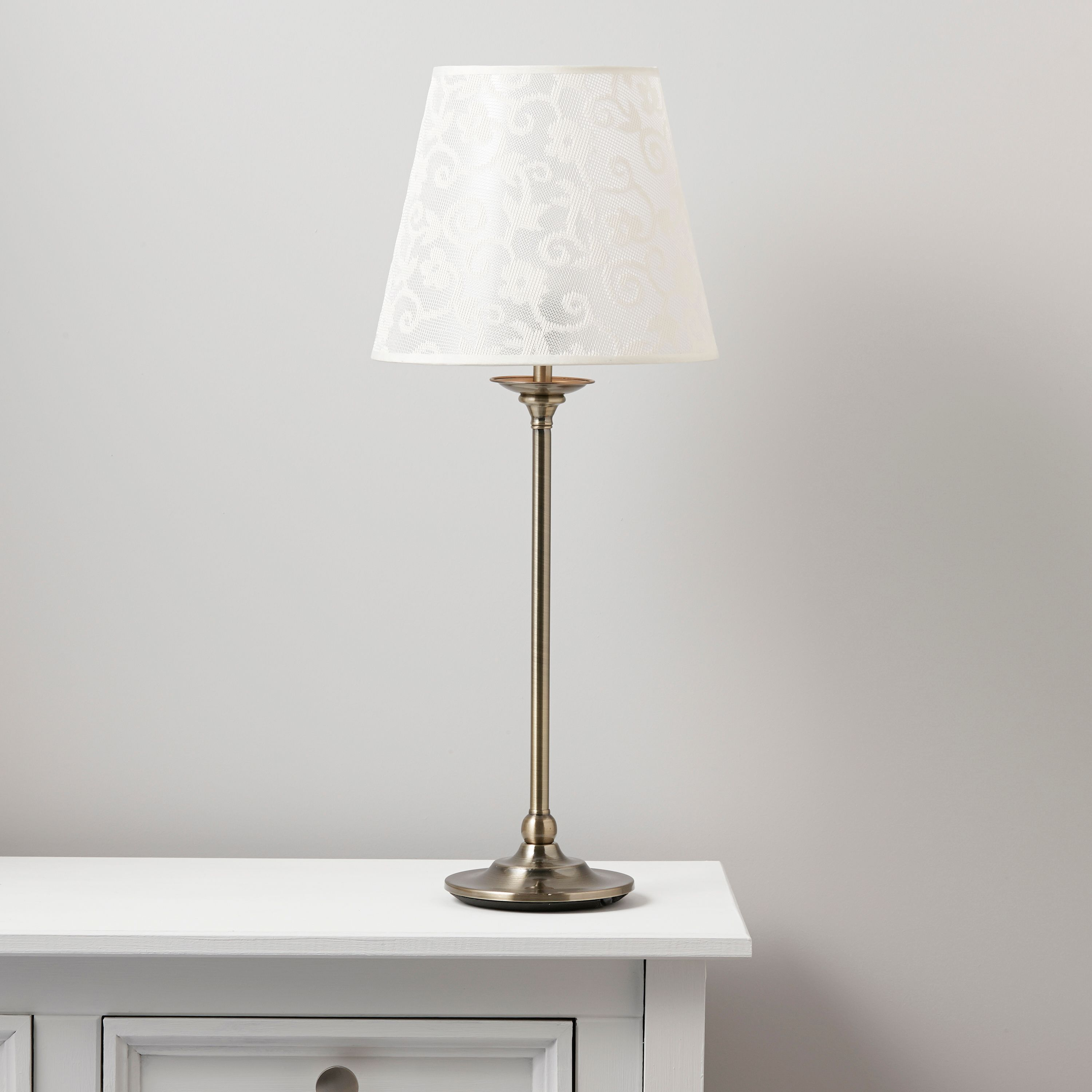Strasbourg Nickel Effect Table Lamp