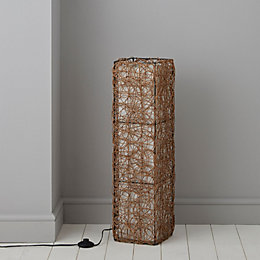 Plymouth Brown & Cream Floor Lamp