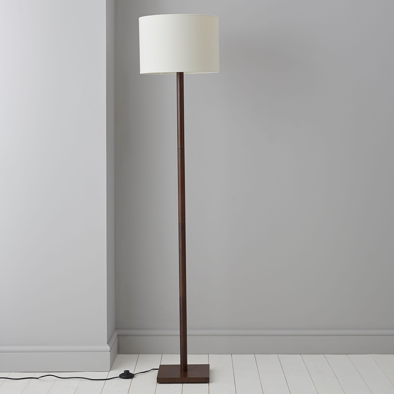 Caen Wood Effect Floor Lamp Departments DIY At B Q