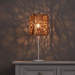 Bali Brown Rattan Light Shade (D)160mm