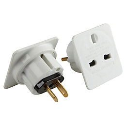 B&Q ABS International Travel Adaptor
