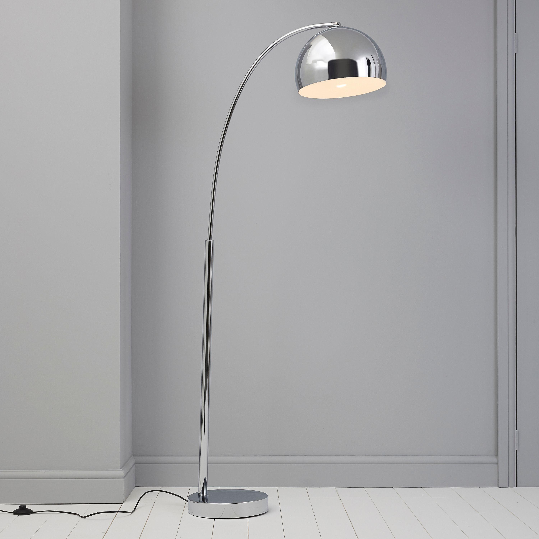 Bedroom Lights B Q: Plymouth Brown & Cream Floor Lamp