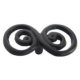 B&Q Black Painted Twisted Furniture Knob, Pack of