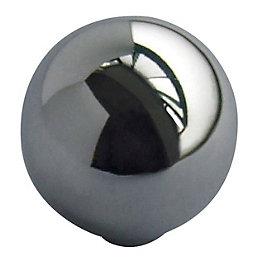 B&Q Chrome Effect Round Furniture Knob, Pack of