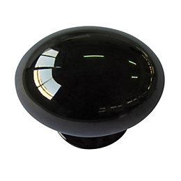 B&Q Nickel Effect Oval Furniture Knob, Pack of