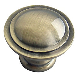 B&Q Brass Effect Round Furniture Knob, Pack of