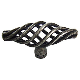 B&Q Pewter Effect Caged Furniture Knob, Pack of