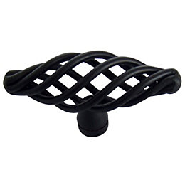 B&Q Black Painted Caged Furniture Knob, Pack of