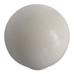 B&Q White Round Furniture Knob, Pack of 10