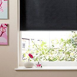Colours Pali Cordless Black Roller Blind (L)160cm (W)120cm