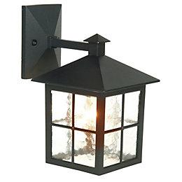 Maine Black Mains Powered External Wall Lantern