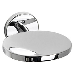 B&Q Cirque Chrome Effect Wall Mounted Soap Dish