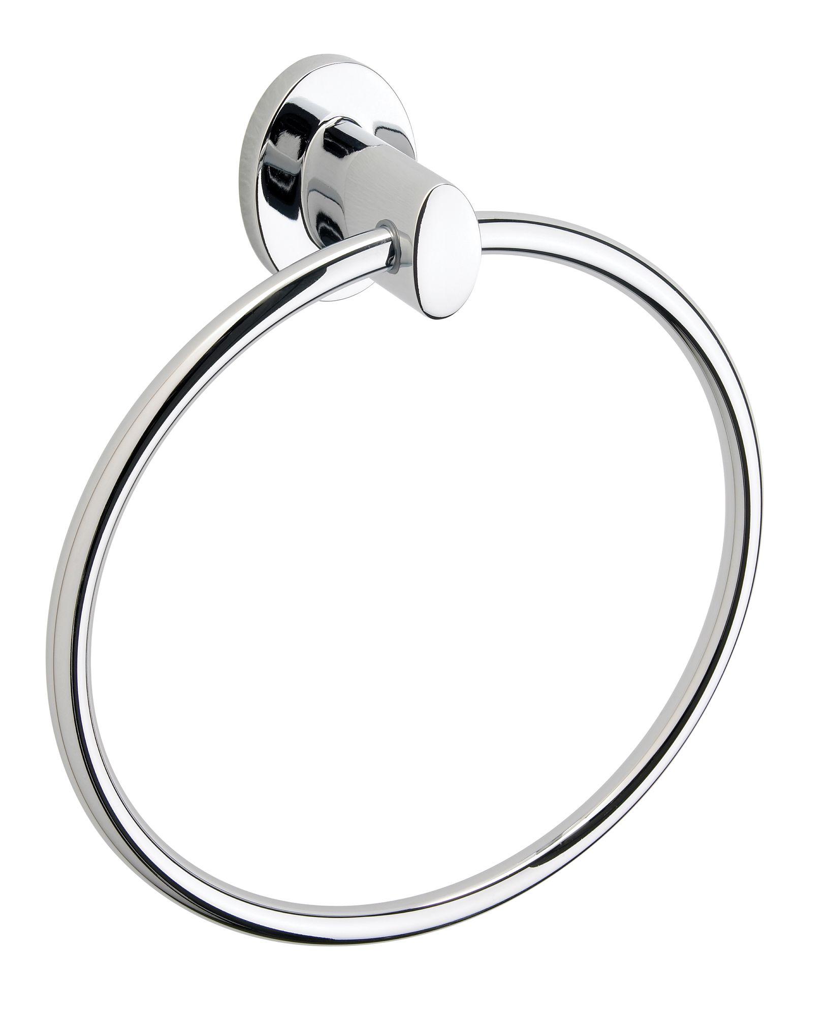 B Q Ultimo Chrome Towel Ring