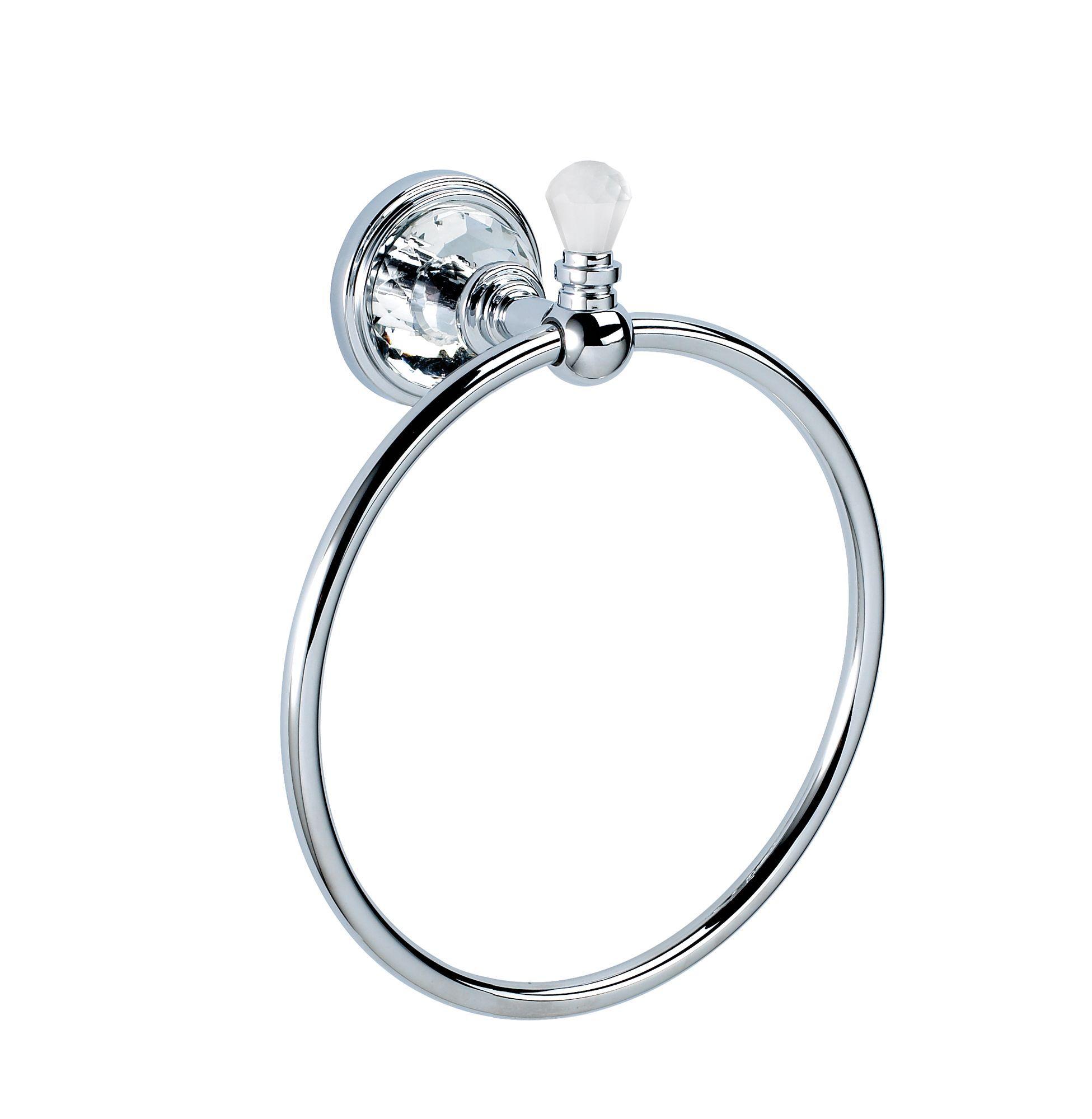 Bathroom Accessories At B Q - Cooke lewis eva chrome effect towel ring w 165mm departments diy at b q