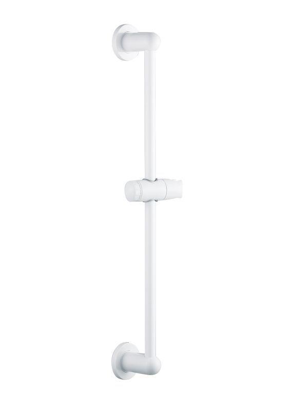B&q White Shower Riser Rail