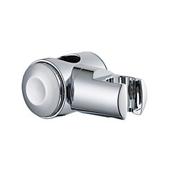 B&Q Silver Chrome Effect Shower Head Holder with