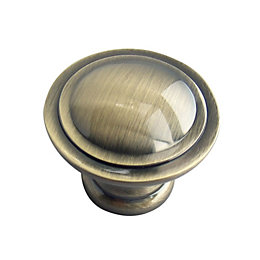 B&Q Polished Gold Effect Round Internal Knob Cabinet