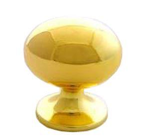 B&q Polished Brass Effect Oval Internal Knob Furniture Knob