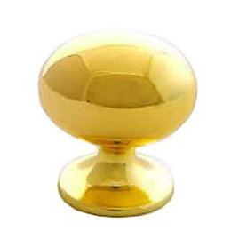 B&Q Polished Brass Oval Internal Cabinet Knob