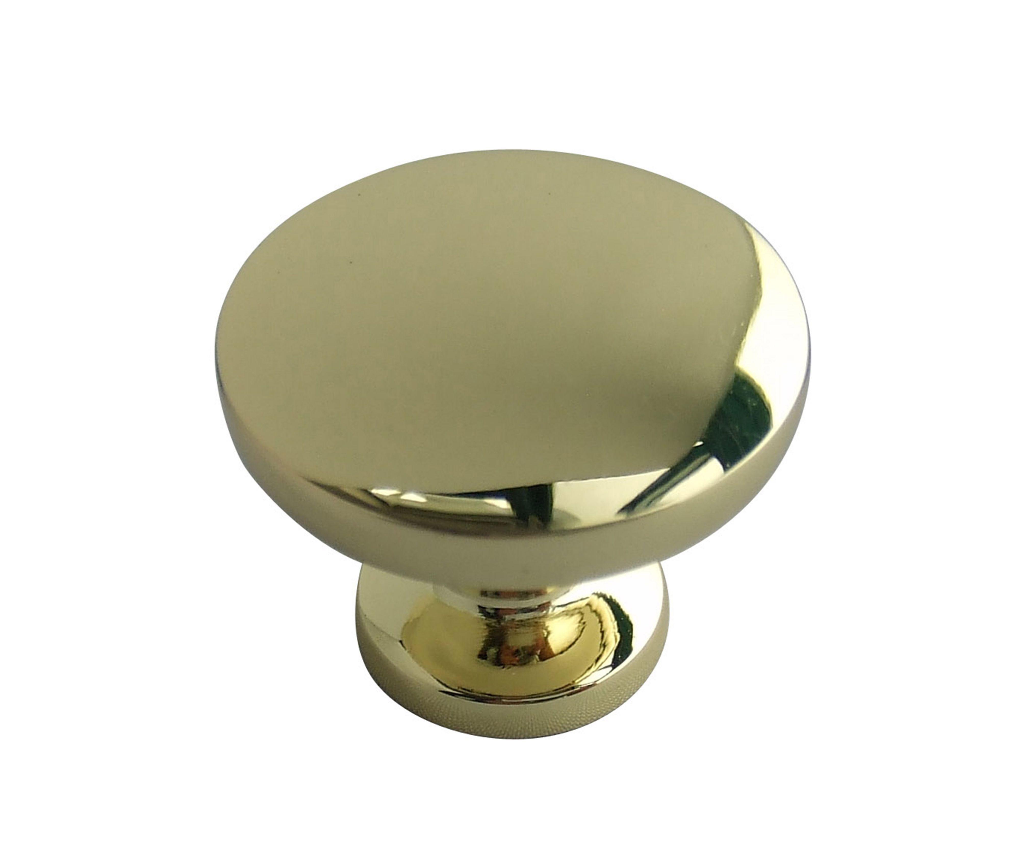 B&q Brass Effect Round Internal Knob Furniture Knob